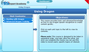Using Dragon - eBSI Export Academy