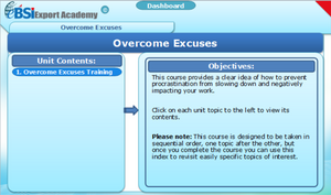 Overcome Excuses - eBSI Export Academy