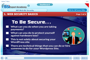 Wordpress Web Biz Security - eBSI Export Academy