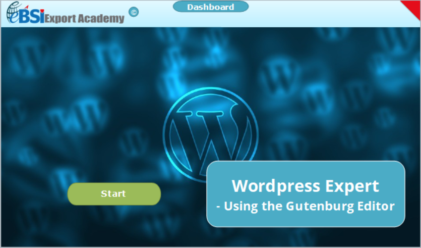 Wordpress Expert - Using the Gutenburg Editor - eBSI Export Academy