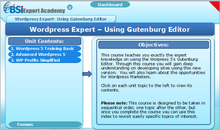 Load image into Gallery viewer, Wordpress Expert - Using the Gutenburg Editor - eBSI Export Academy