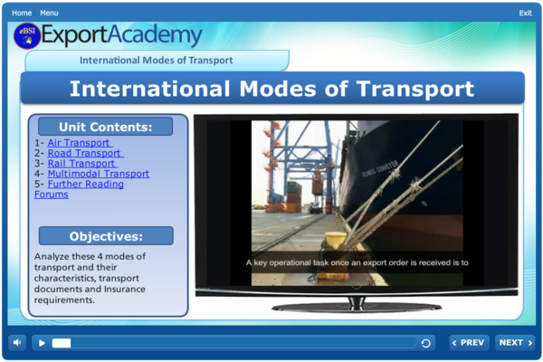 International Modes of Transport