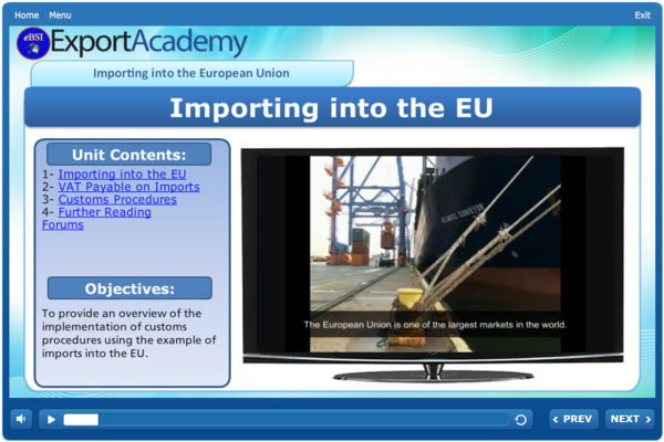 Importing into the EU - eBSI Export Academy