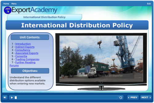 International Distribution Policy - eBSI Export Academy
