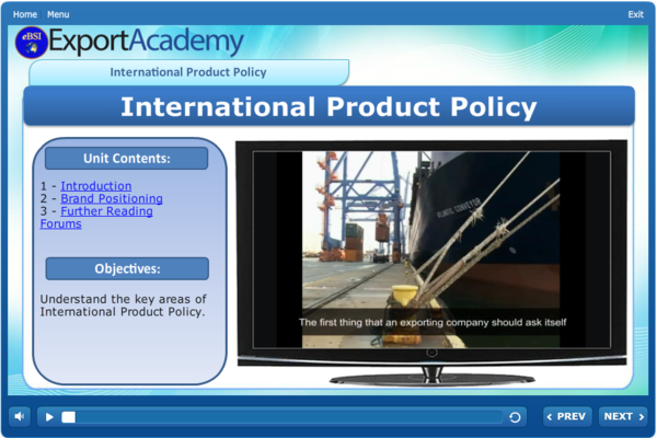 International Product Policy - eBSI Export Academy