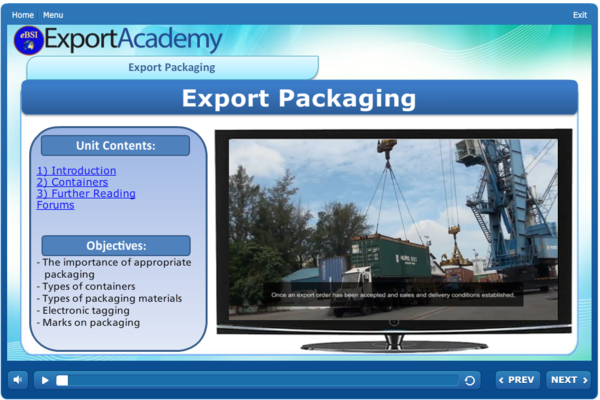 Export Packaging - eBSI Export Academy