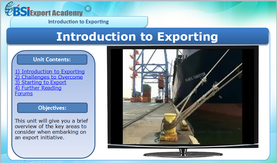 EMO - Export Marketing Operations - eBSI Export Academy