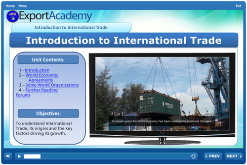 Introduction to International Trade - eBSI Export Academy