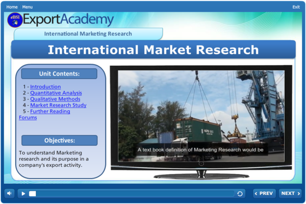 International Market Research - eBSI Export Academy