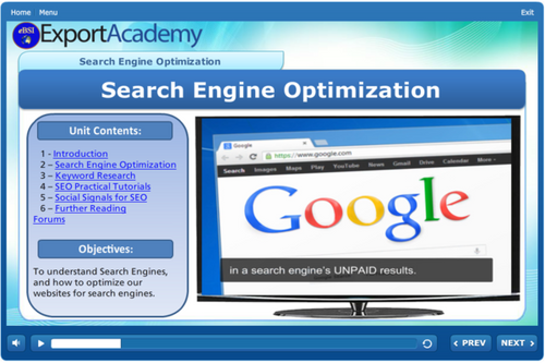 Search Engine Optimization - eBSI Export Academy