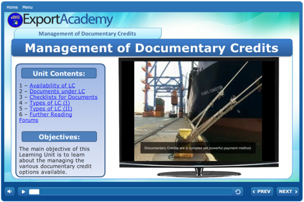 Management of Documentary Credits