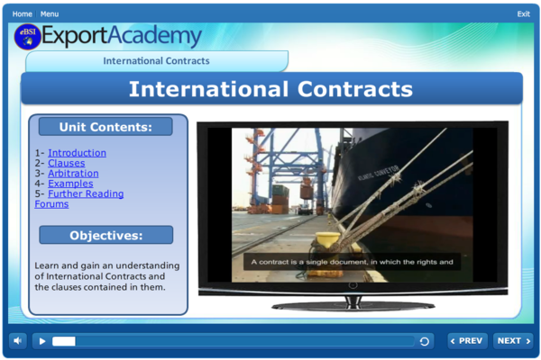 International Contracts - eBSI Export Academy