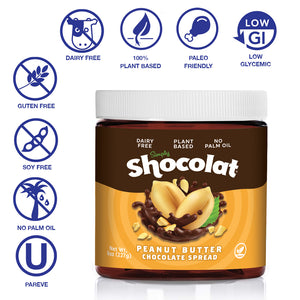 Shocolat Hazelnut & Peanut Butter Chocolate Spread MIXED 2-Pack 16 Oz Total