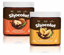 Load image into Gallery viewer, 8oz Chocolate Hazelnut Spread & 8oz Chocolate Peanut Butter Spread 2-Pack