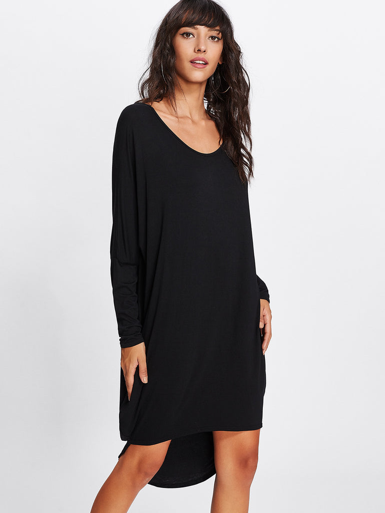 Dip Hem T-Shirt Dress