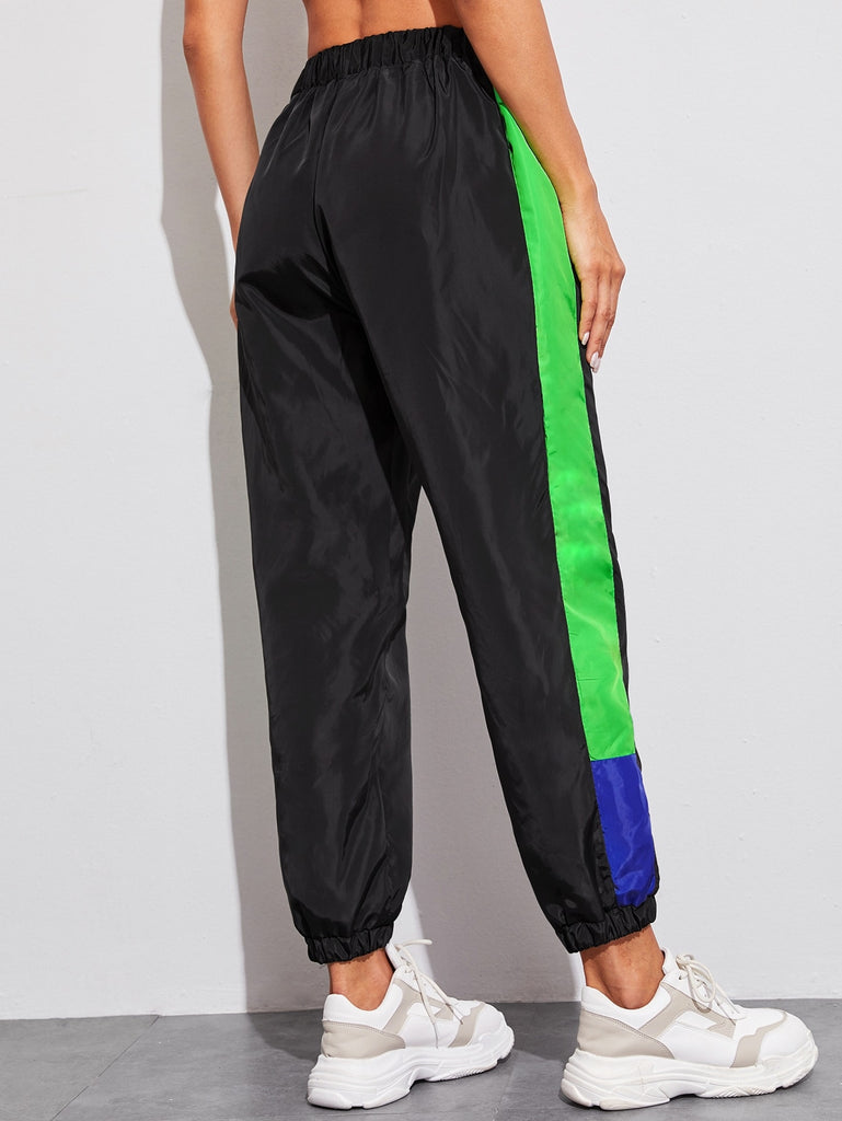 Go-Go Black and Neon Windbreaker Joggers