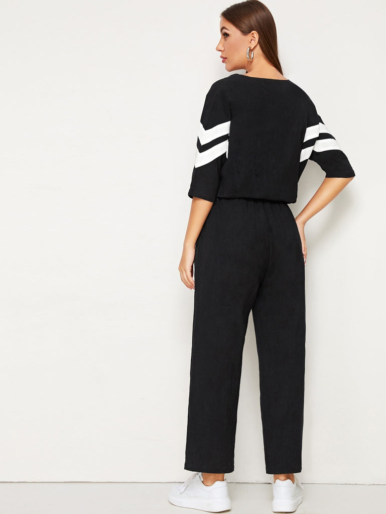 Stripe it up Jumpsuit