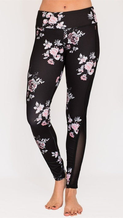 Full Bloom Compression Legging with Mesh Paneling