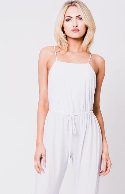 Open back Jumpsuit with Adjustable Waist