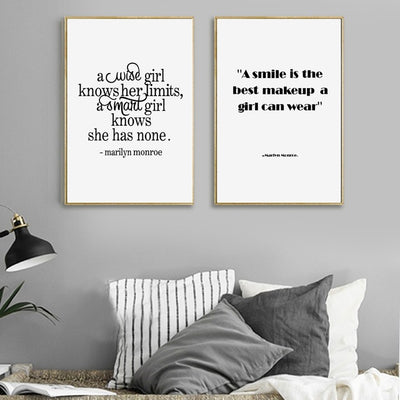 Marilyn Monroe Quotes Art Print