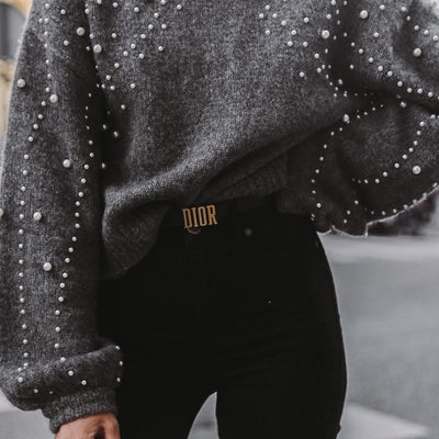 Beaded Chunky Sweater