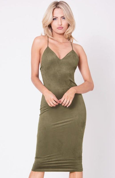 What The Faux Suede Dress