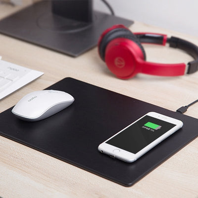 Faux Leather Wireless Charging Mouse Pad