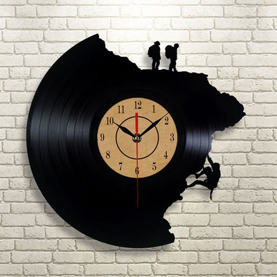 Record Climbing Wall Clock
