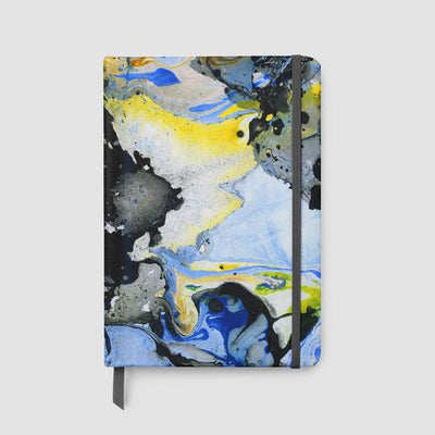 Faux Leather Marble Watercolor Lined Notebook