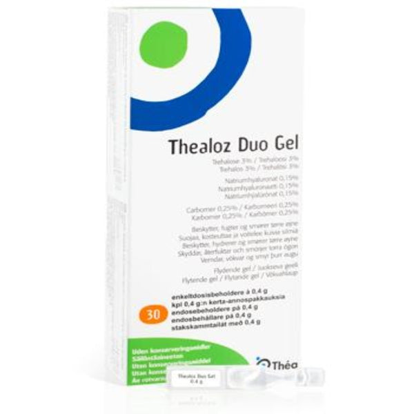 Thealoz Duo Gel 30 pipettiä - Optikko Ukkonen