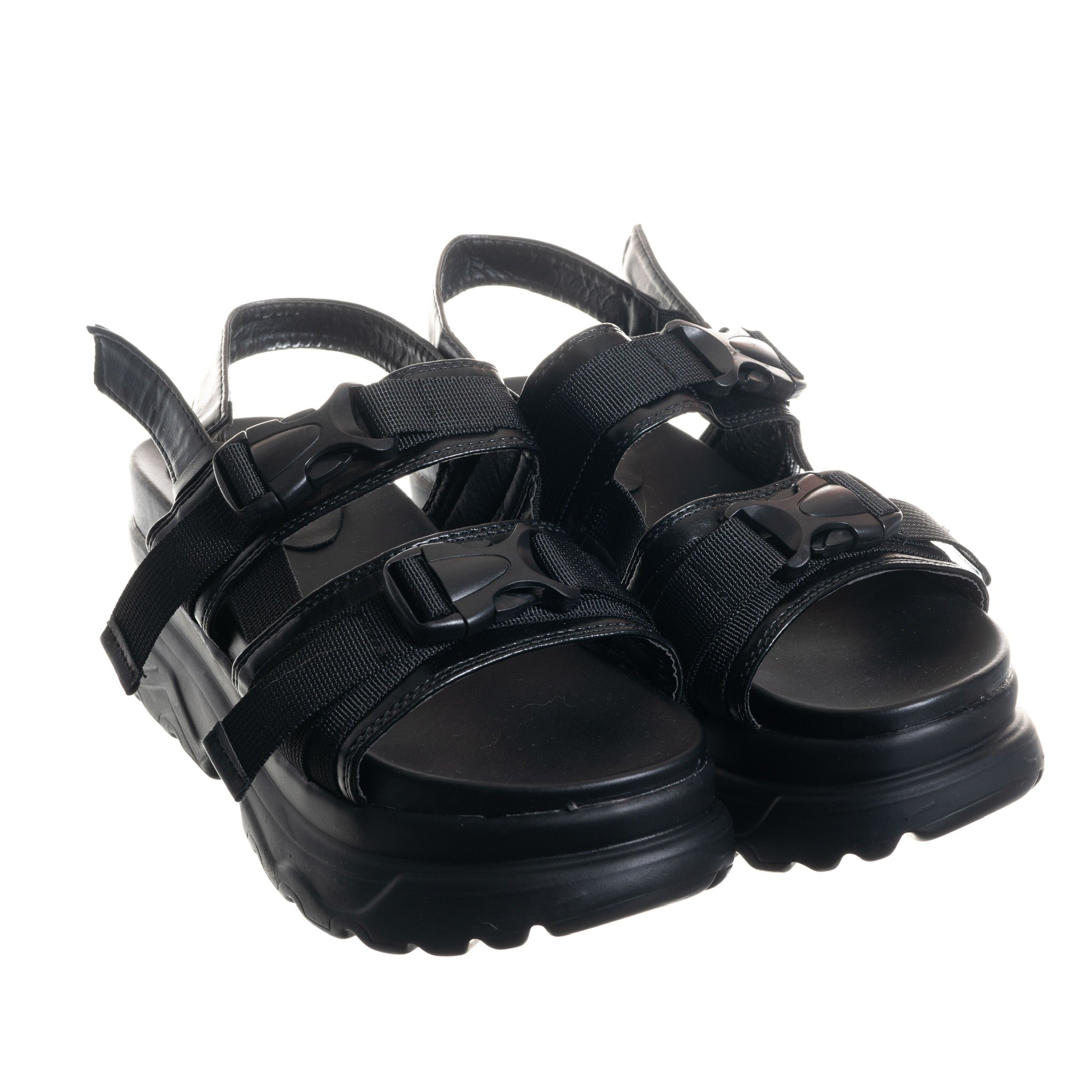 """Flawless"" Wedge Sandal (BLACK)"