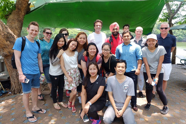 My very first language meetup in Lumphini Park