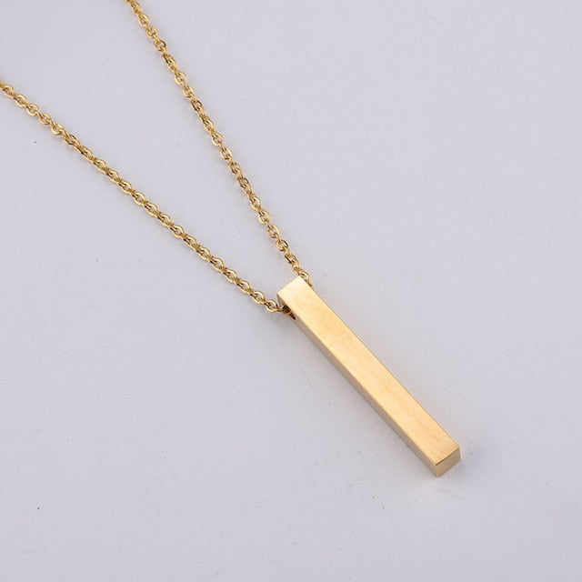 Simple Long Unisex Necklace (No Engraving)