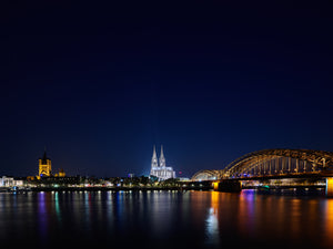 Michael Stahlschmidt • COLOGNE NIGHT PANORAMA • 2019