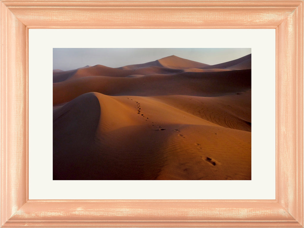 Color Pop Rahmen • Eberhard Hahne • FOOTPRINTS IN THE DESERT