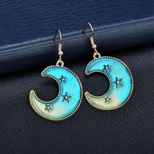 Load image into Gallery viewer, Blue Star Earrings