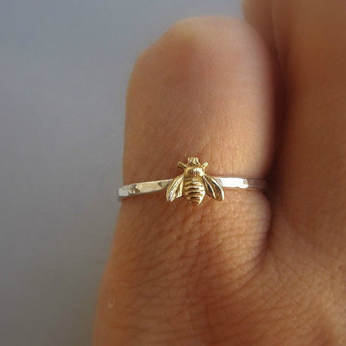 Golden Bee Thin Rings