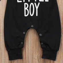 Load image into Gallery viewer, MOMS LITTLE BOY Black Baby Onesie