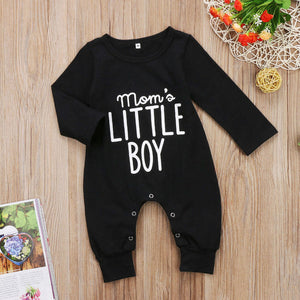 MOMS LITTLE BOY Black Baby Onesie