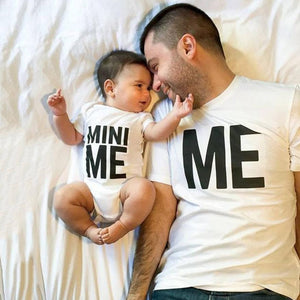 ME & MINI ME Matching Daddy T-Shirt And Baby Romper
