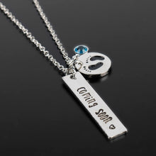 Load image into Gallery viewer, COMING SOON Baby Footprint Necklace & Baby Announcement Jewelry