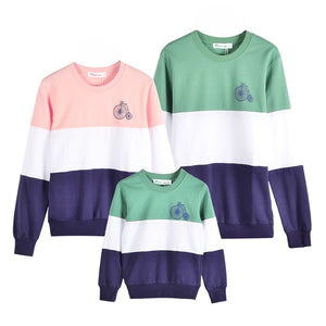 Family Matching Outfits Mom/Dad/Baby Stripe Long-Sleeve Cotton T shirts spring/autumn Family Clothing sets
