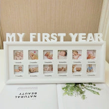 Load image into Gallery viewer, MY FIRST YEAR Baby Keepsake Frame
