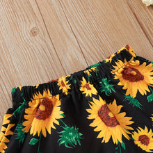Load image into Gallery viewer, Sleeveless Sunflower Matching Top and Bottom Set