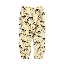 Load image into Gallery viewer, Organic dinosaur print stretchy elastic legging trousers baby boy