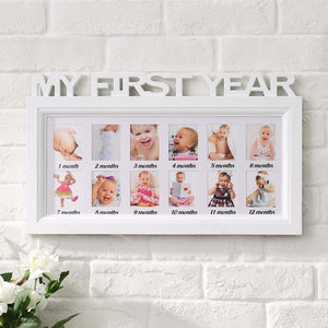 MY FIRST YEAR Baby Keepsake Frame
