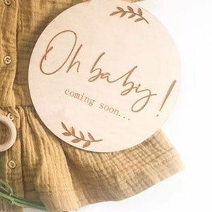 OH BABY COMING! COMING SOON Wooden Pregnancy Announcement Plaque