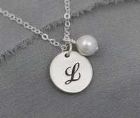 custom initial necklace with personalized letter