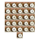 cursive letter chart for disc charms