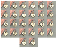 Sterling Silver heart initial chart
